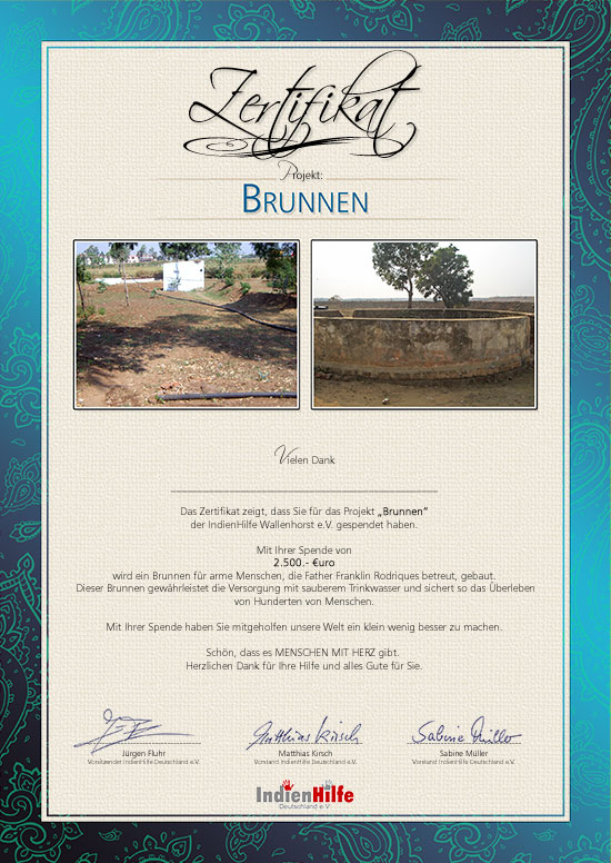 IndienHilfe   Projekt Brunnen